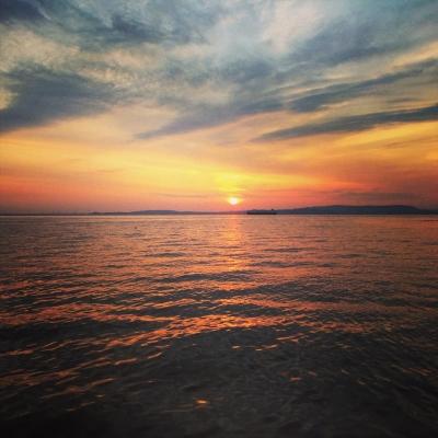 観音崎の朝陽