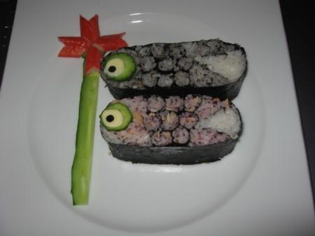 レシピ 飾り巻き寿司 こいのぼり (14)