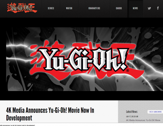Yu-Gi-Oh! News 4K Media Announces Yu-Gi-Oh! Movie Now In Development