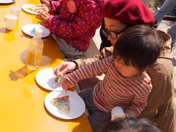 ピザ作り体験、愛菜塾5