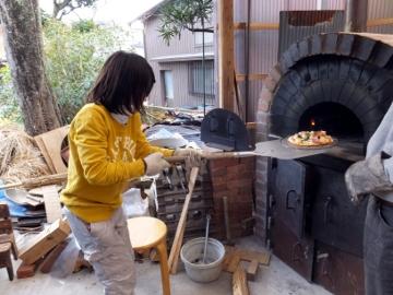ピザ作り体験、愛菜塾16