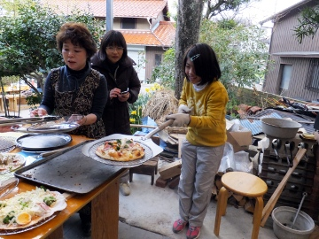 ピザ作り体験、愛菜塾17