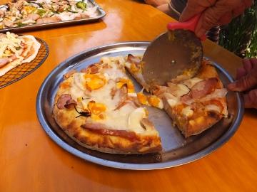 ピザ作り体験、愛菜塾18