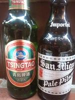 チンタオビールとサンミゲール