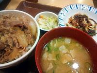 すき屋野菜炒め牛丼セット