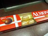 アーモンドチョコレート中