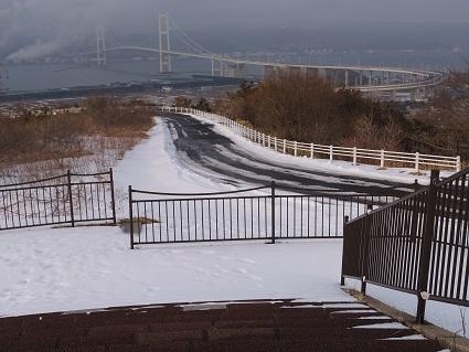 冬の祝津公園展望台1