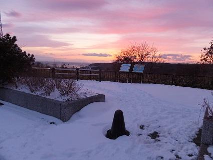 冬の八丁平展望台4