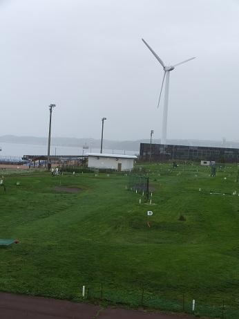 風車とパークゴルフ場