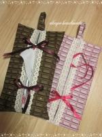 チョコレート柄 BOXティッシュケース 3月