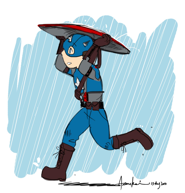 Cap under the rain