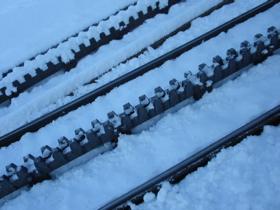 レザンの登山電車
