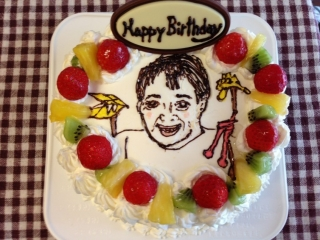 お顔ケーキ
