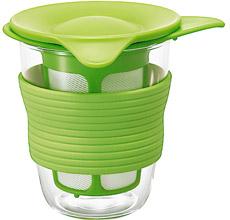 茶漉しつき耐熱グラス