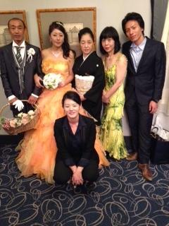 絢結婚式田中一家