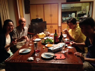 那須山の家夜中の会食