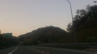 播但道から竹田城