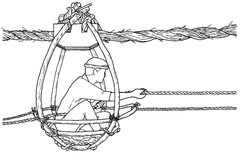 渡し籠のイラスト