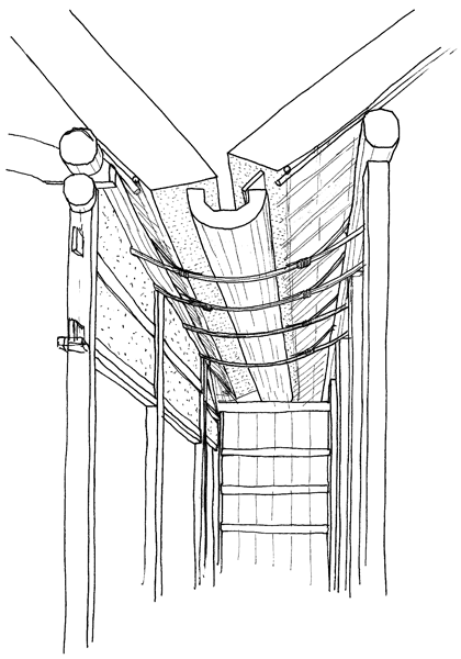 分棟の雨樋