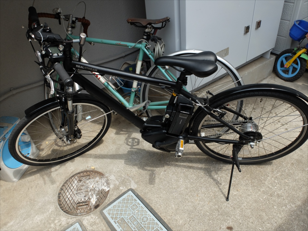 息子に借用した電動アシストの自転車