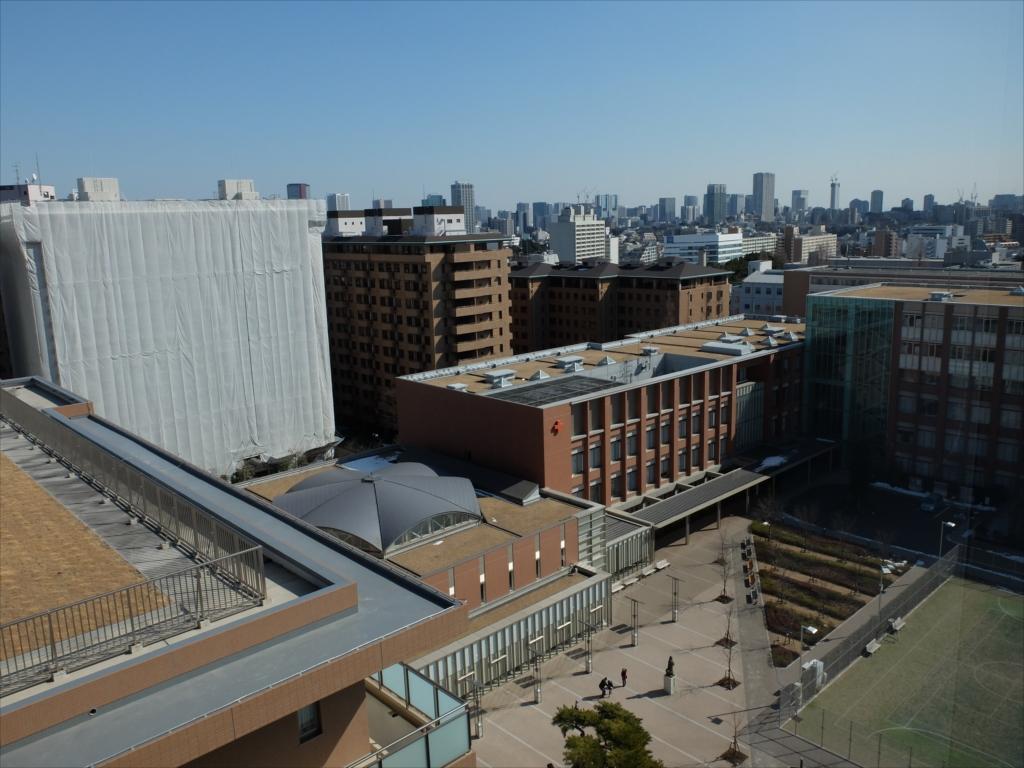 日赤病院(日本赤十字社医療センター)9階からの眺め_1