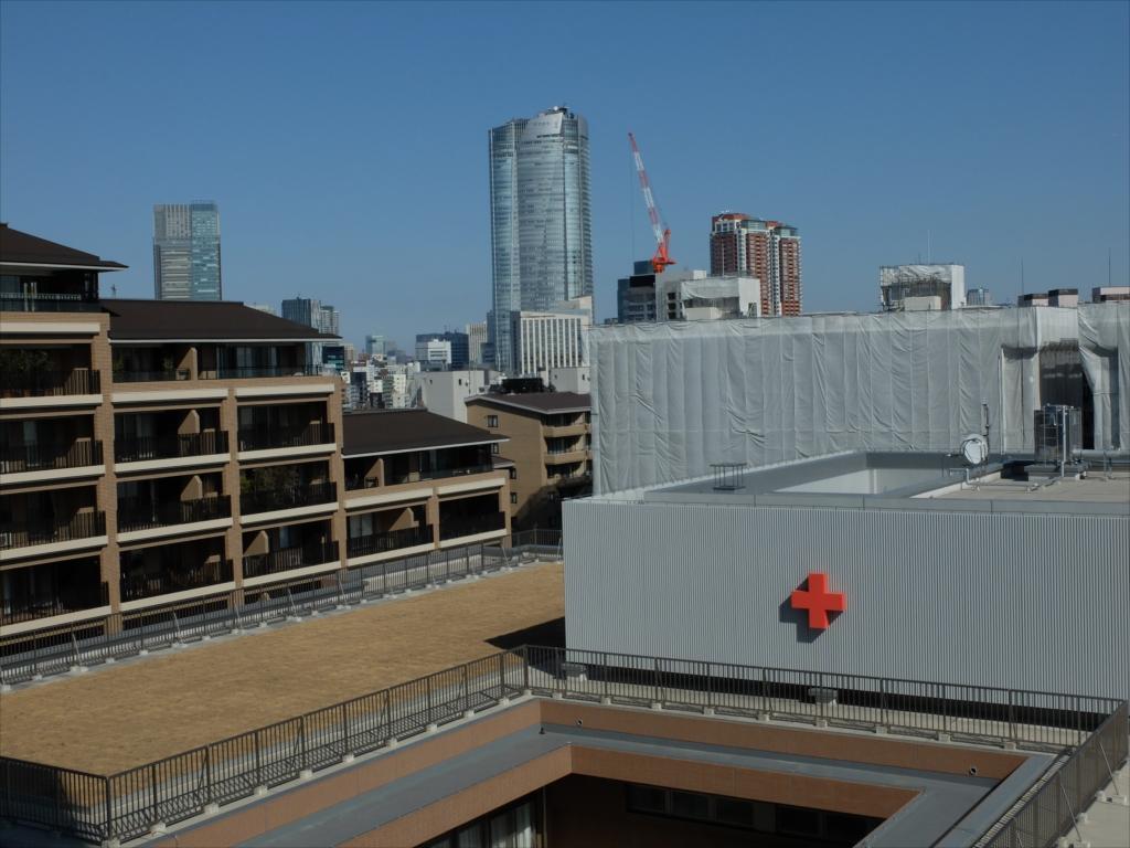 日赤病院(日本赤十字社医療センター)9階からの眺め_2