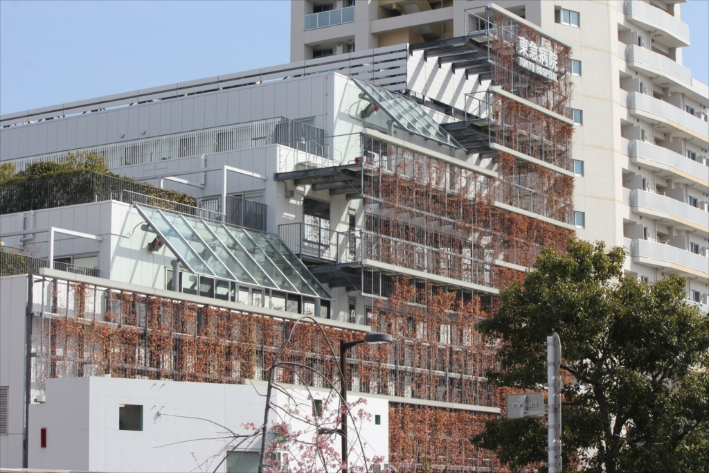 大岡山駅と東急病院_2