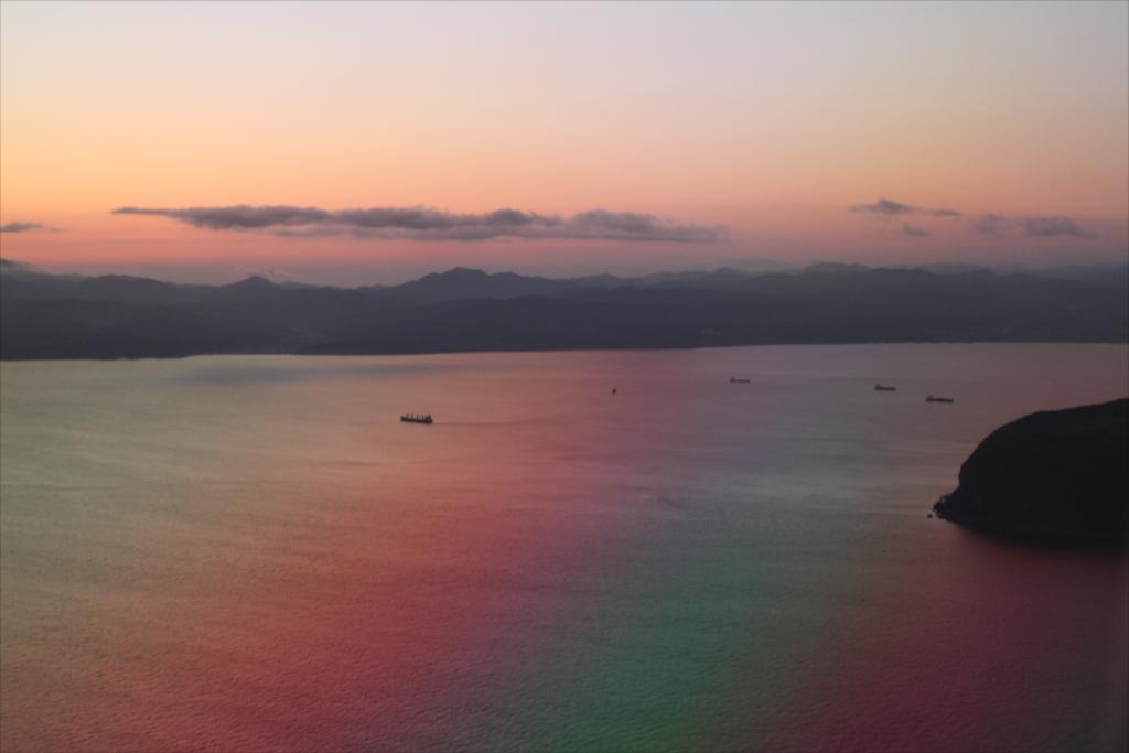 渡島半島の端っこが見えてきた_1