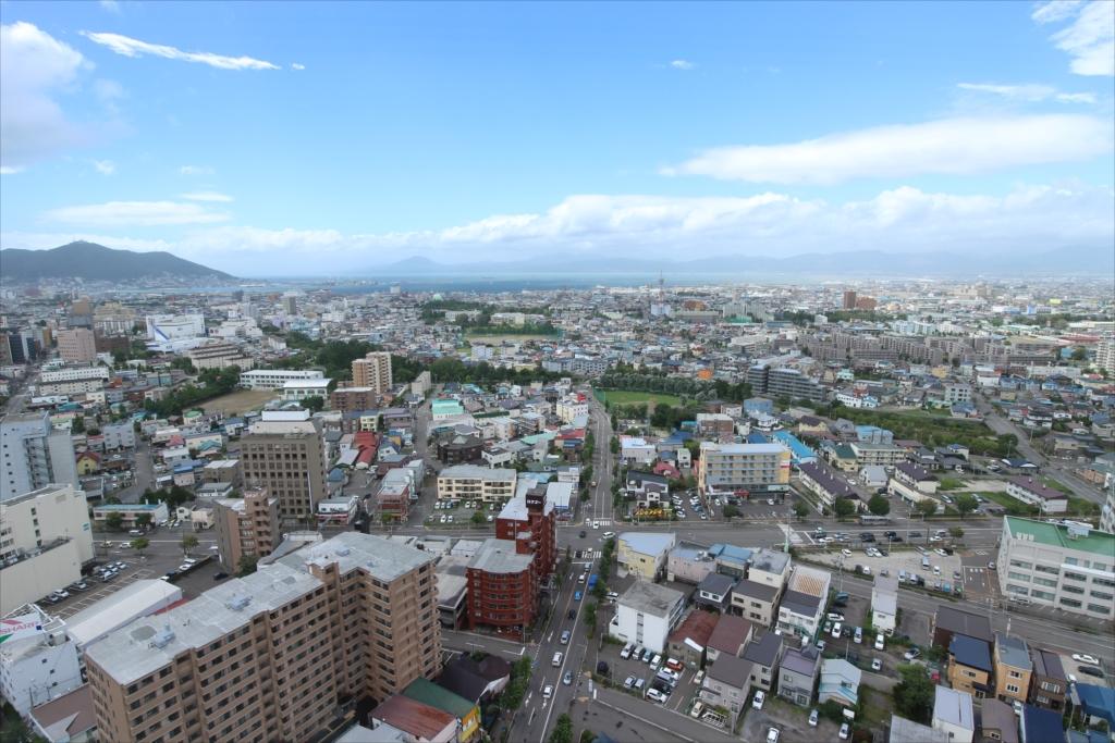 五稜郭タワーから見た市内の様子_1