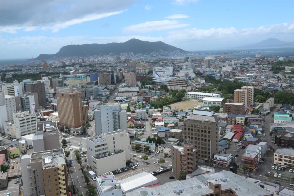 五稜郭タワーから見た市内の様子_2