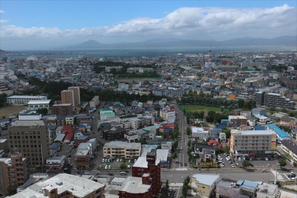 五稜郭タワーから見た市内の様子_3