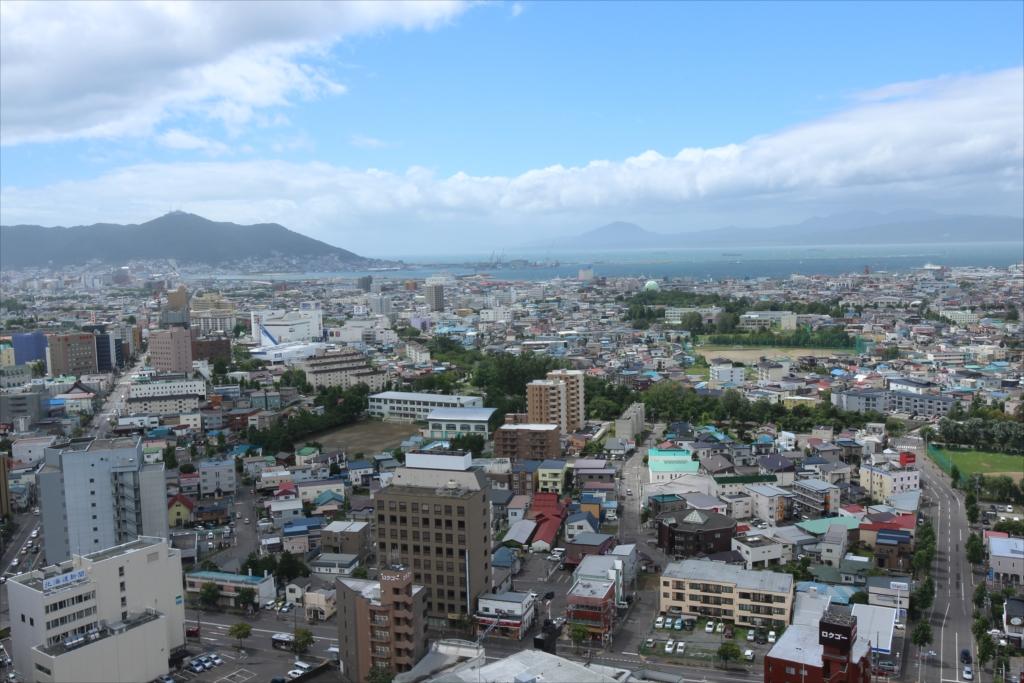 五稜郭タワーから見た市内の様子_6