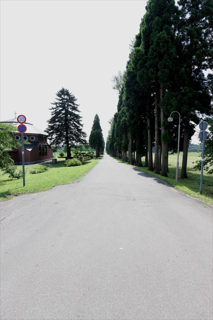 修道院への進入路