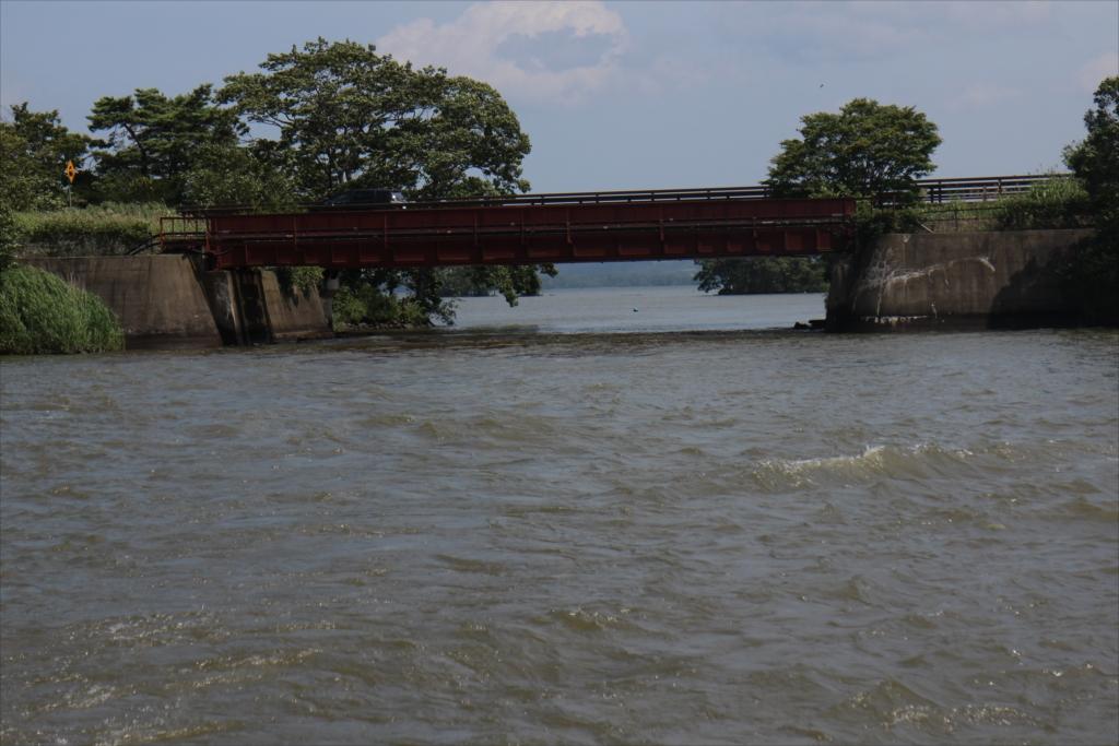 潜った橋を振り返る