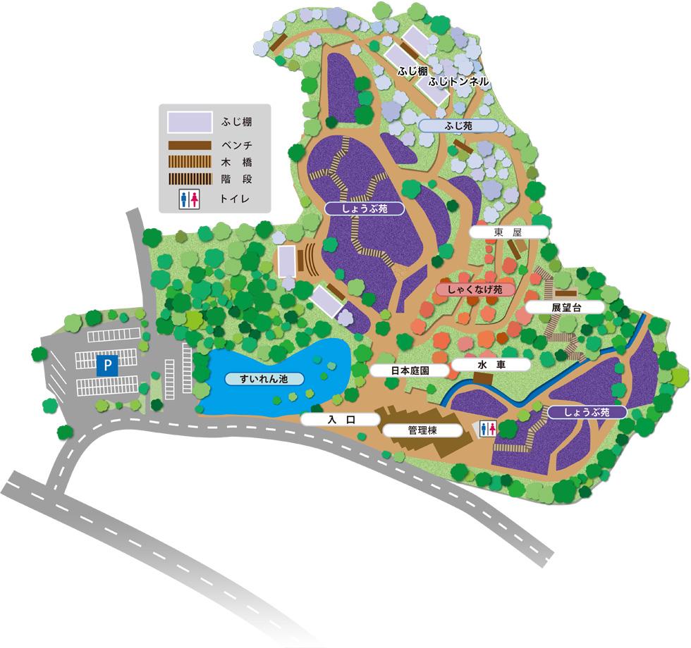 しょうぶ園の案内図