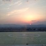 京都の日の入り
