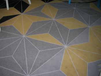 diamant模様の床