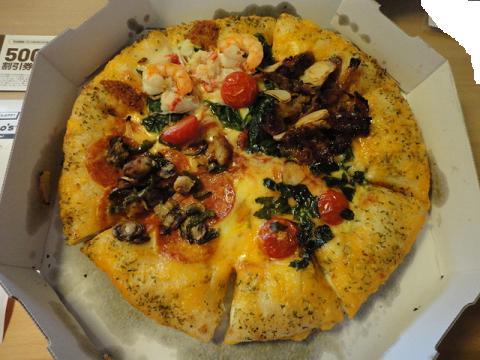誕生日にピザ②