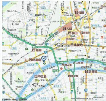 堂島リバーフォーラムの付近の地図