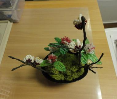 キット「梅と沈丁花」で③