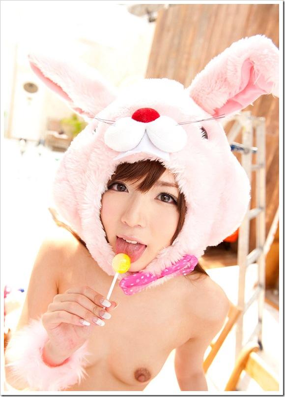 【萌え100%コスプレ】お宝美乳ハミ乳