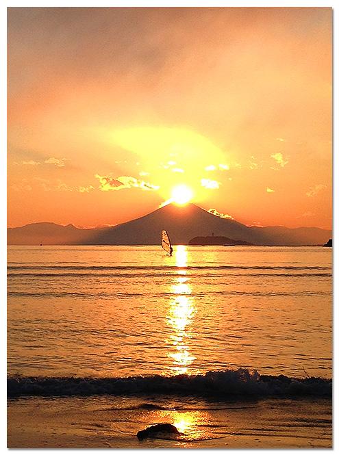 逗子海岸,ダイヤモンド富士