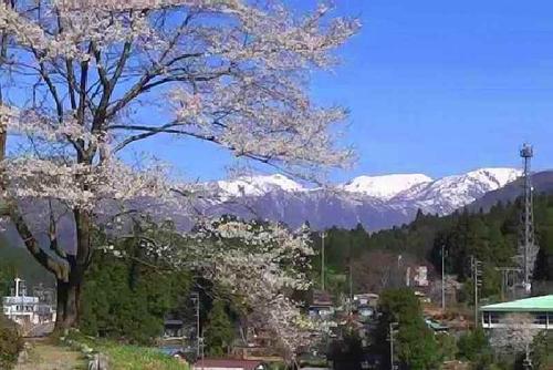 2014.4淡墨公園から白山山系を見る)