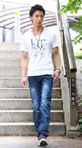Tシャツ×ユーズドデニム