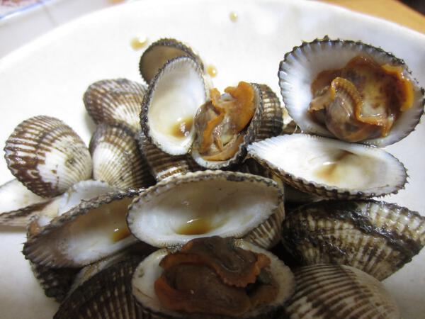 有明海産サルボウ貝の特盛398円なり