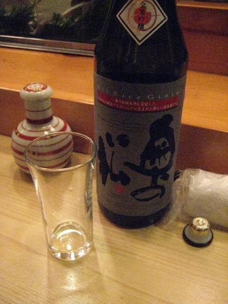 フードアナリストのいぶくろブログ-鮨大前_酒