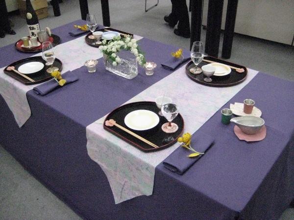 フードアナリストのいぶくろブログ-春の日本酒講座_テーブルコーディネート