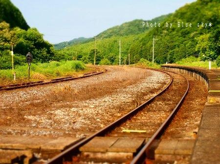 油須原駅‐線路
