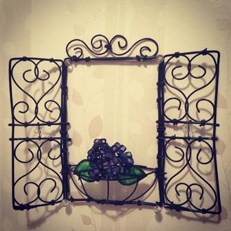 アジサイの小窓