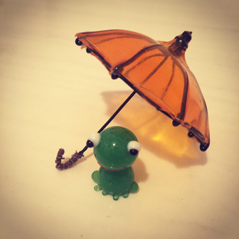 傘とかえるちゃん